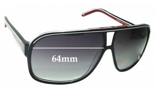 Sunglass Fix Replacement Lenses for Carrera Grand Prix 2 64mm Wide