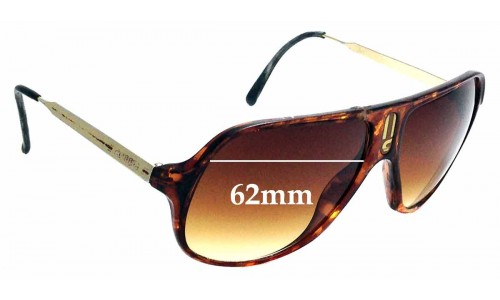 Sunglass Fix Replacement Lenses for Carrera New Champion - 62mm wide
