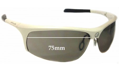 Sunglass Fix Replacement Lenses for Carrera Pugno - 75mm wide
