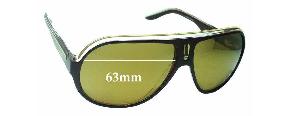 50586b5f5d5 Sunglass Fix Replacement Lenses for Carrera Speedway KDT1W 63mm wide ...