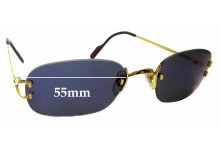 Sunglass Fix Replacement Lenses for Cartier 1715431 - 55mm wide