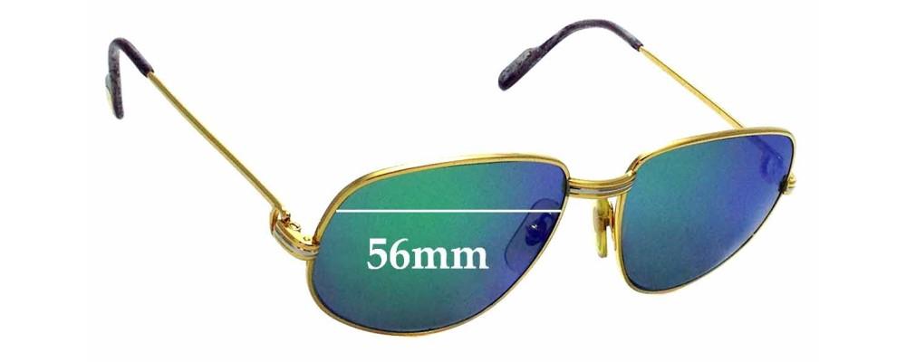 Sunglass Fix Replacement Lenses for Cartier 1986 - 56mm wide
