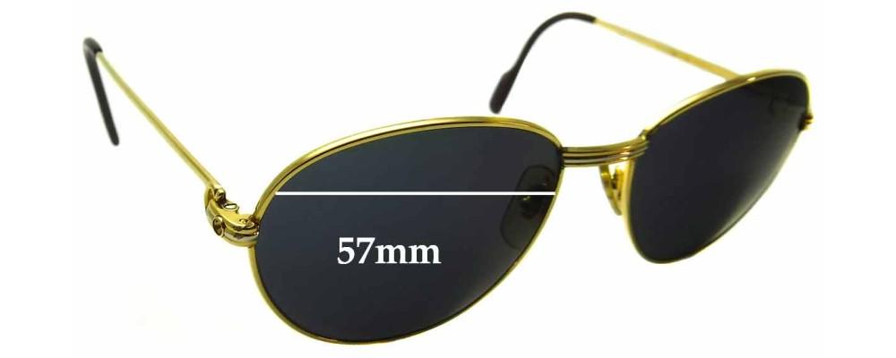 Cartier 1988 Replacement Sunglass Lenses - 57mm wide