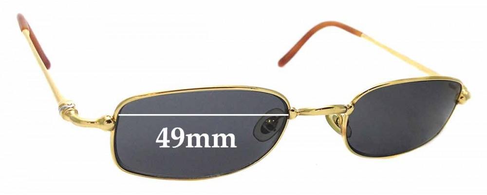 Sunglass Fix Replacement Lenses for Cartier 3499073 - 49mm wide