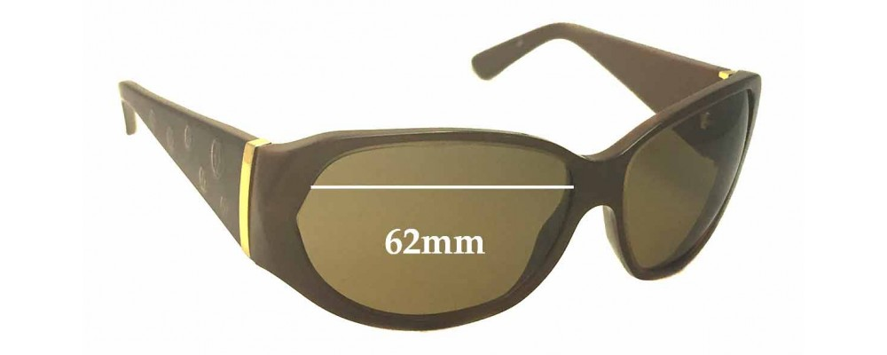 Cartier T8200657 Replacement Sunglass Lenses - 62mm wide