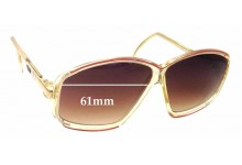 Cazal Mod 153 Replacement Sunglass Lenses - 61mm Wide