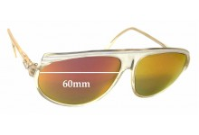 Cazal Mod 161 Replacement Sunglass Lenses - 60mm Wide