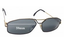 Cazal Mod 729 Replacement Sunglass Lenses - 59mm Wide