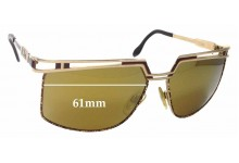 Cazal Mod 957 Replacement Sunglass Lenses - 61mm Wide