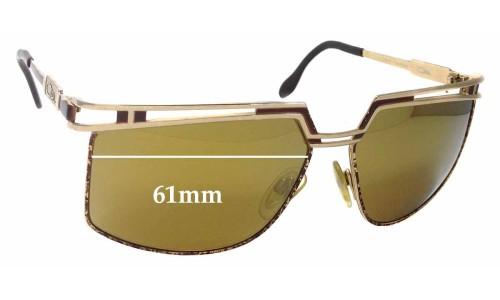 Cazal Mod 957 Replacement Sunglass Lenses - 61mm Wide