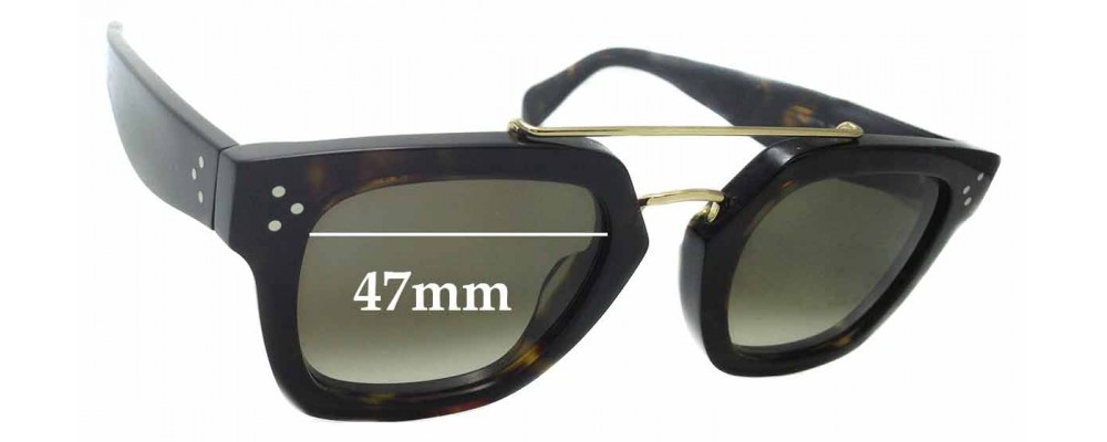 ab1a6ed7d397 Sunglass Fix Replacement Lenses for Celine CL 41077 S - 47mm wide ...