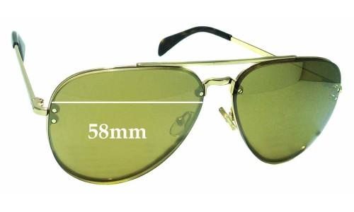 Celine CL41392/S Replacement Sunglass Lenses - 58mm wide