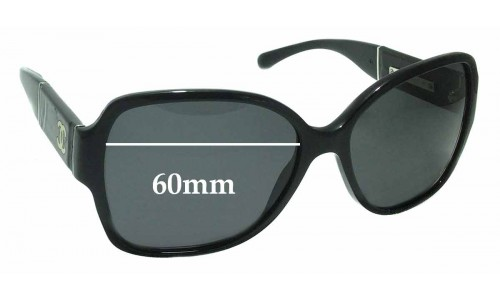 Chanel 1345/3C Replacement Sunglass Lenses - 60mm wide