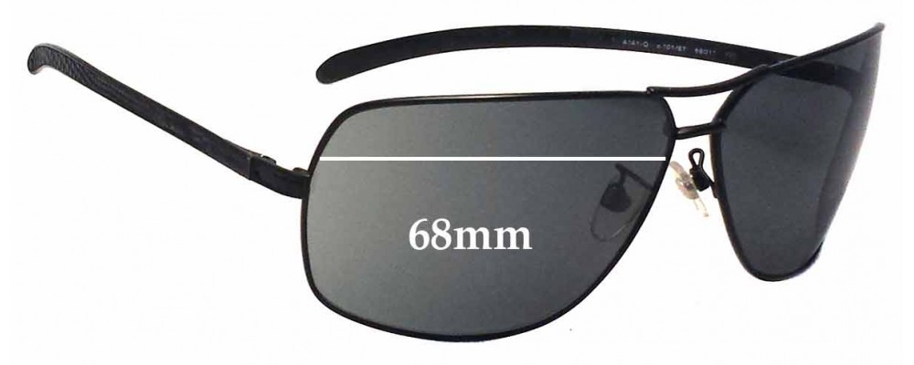078e9ddd4120 Sunglass Fix Replacement Lenses for Chanel 4141-Q - 68mm Wide ...