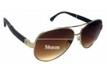 Chanel 4195-Q Replacement Sunglass Lenses - 58mm wide