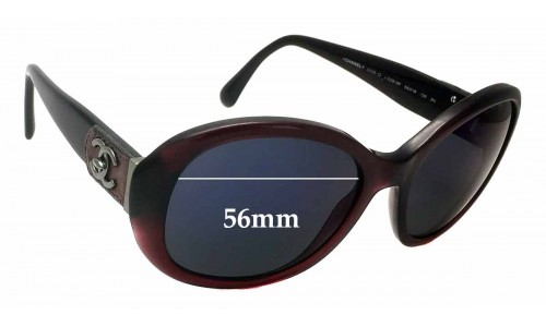Chanel 5235-Q Replacement Sunglass Lenses - 56mm wide