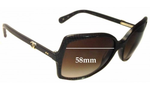 Chanel 5245 Replacement Sunglass Lenses - 58mm wide