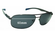 Sunglass Fix Replacement Lenses for Chilli Beans MT2315 - 61mm Wide