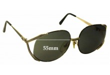 Christian Dior 2387 Replacement Sunglass Lenses - 55mm Wide
