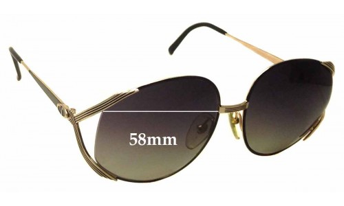 Christian Dior 2387 Replacement Sunglass Lenses - 58mm Wide