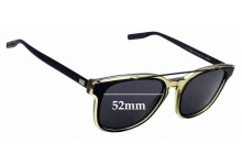 Sunglass Fix Replacement Lenses for Christian Dior Homme Black Tie 211S - 52mm Wide