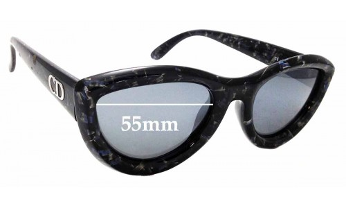 Sunglass Fix Replacement Lenses for Christian Dior 2907 - 55mm wide