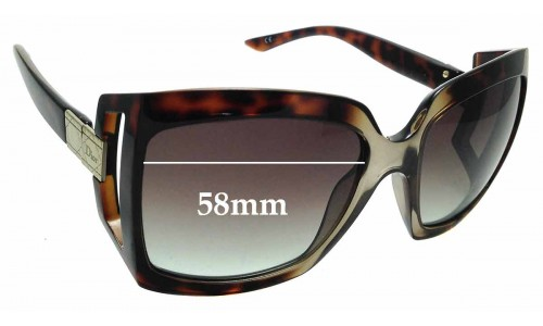 Sunglass Fix Replacement Lenses for Christian Dior - Dior 611 - 58mm Wide