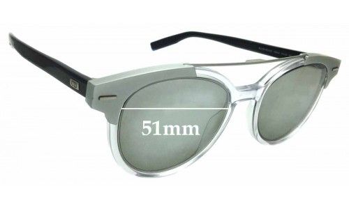 Sunglass Fix Replacement Lenses for Christian Dior Homme Black Tie 220S - 51mm Wide