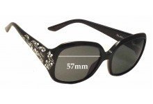 Christian Dior Minuit Replacement Sunglass Lenses - 57mm Wide