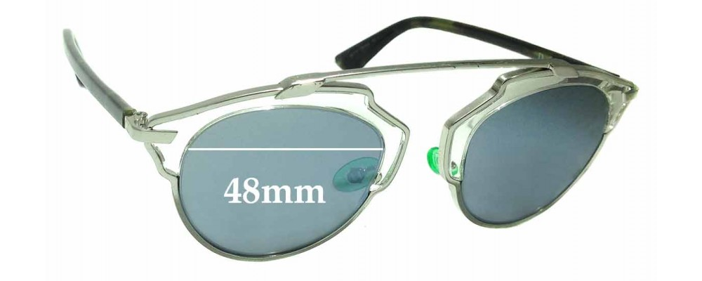 a4b5908f568d2 Christian Dior So Real Replacement Sunglass Lenses - 48mm Wide