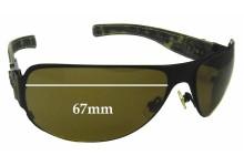 Chrome Hearts Deviant 1 Replacement Sunglass Lenses - 67mm Wide