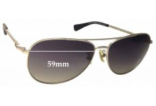 Coach Bree Replacement Sunglass Lenses - 59mm wide