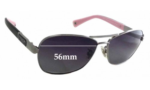 Coach HC7012 Caroline Replacement Sunglass Lenses - 56mm wide
