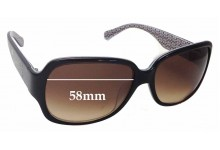 Coach Habiba S781A Replacement Sunglass Lenses - 58mm wide