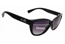 Sunglass Fix Replacement Lenses for Coach HC8163 - 55mm wide