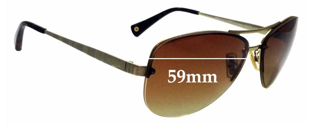 988899b31eef Sunglass Fix Replacement Lenses for Coach Jasmine HC7026 - 59mm wide