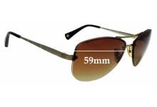 Sunglass Fix Replacement Lenses for Coach Jasmine HC7026 - 59mm wide