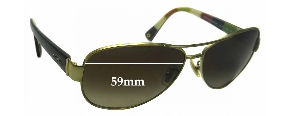 3f2649ddc51 Coach Kristina HC 7003 Replacement Sunglass Lenses - 59mm wide