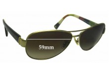 Coach Kristina HC 7003 Replacement Sunglass Lenses - 59mm wide