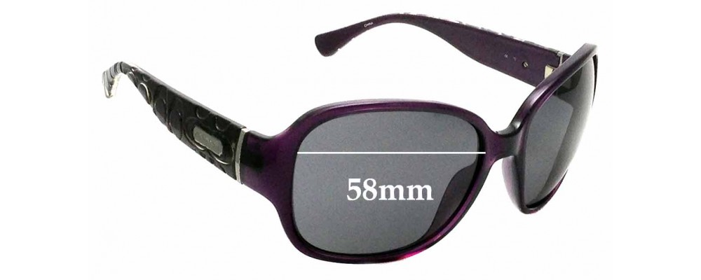 3ab00eb77c Sunglass Fix Replacement Lenses for Coach S3010 - 58mm wide ...