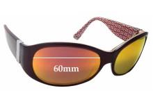 Coach Suzie Replacement Sunglass Lenses - 60mm wide