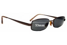 Sunglass Fix Replacement Lenses for Coach Wendy 129 - 53mm wide