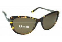Collette Dinnigan Sun Rx 05 Replacement Sunglass Lenses - 55mm Wide