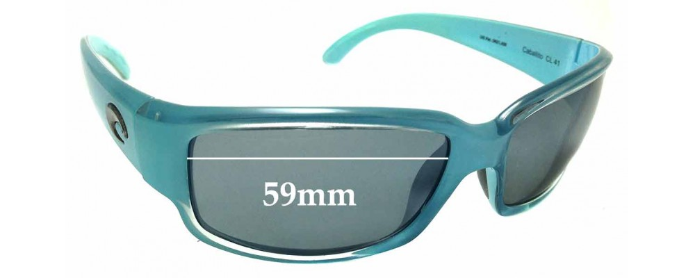 9c5fdb7a97 Sunglass Fix Replacement Lenses for Costa Del Mar Caballito - 59mm Wide