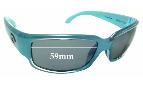 Sunglass Fix Replacement Lenses for Costa Del Mar Caballito - 59mm Wide