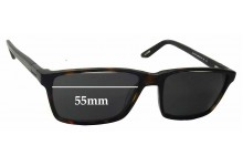 Davidoff MOD 91041 Replacement Sunglass Lenses - 55mm Wide
