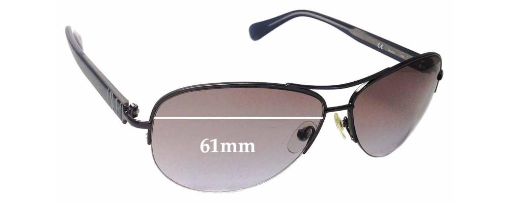 Diane Von Furstenburg DVF804S Replacement Sunglass Lenses - 61mm wide