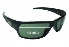 Sunglass Fix Replacement Lenses for Dirty Dog Beast 53372 - 62mm wide