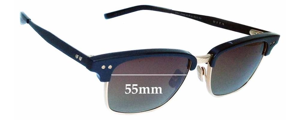 3de580077f09 Dita Statesman Three Replacement Sunglass Lenses - 55mm wide