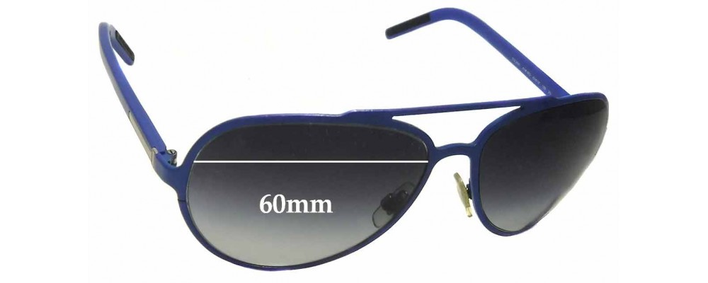 Dolce & Gabbana DG2081 Replacement Sunglass Lenses - 60mm wide